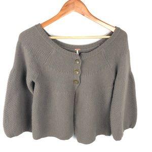 NWOT Free People Knit Button Sweater Size Medium